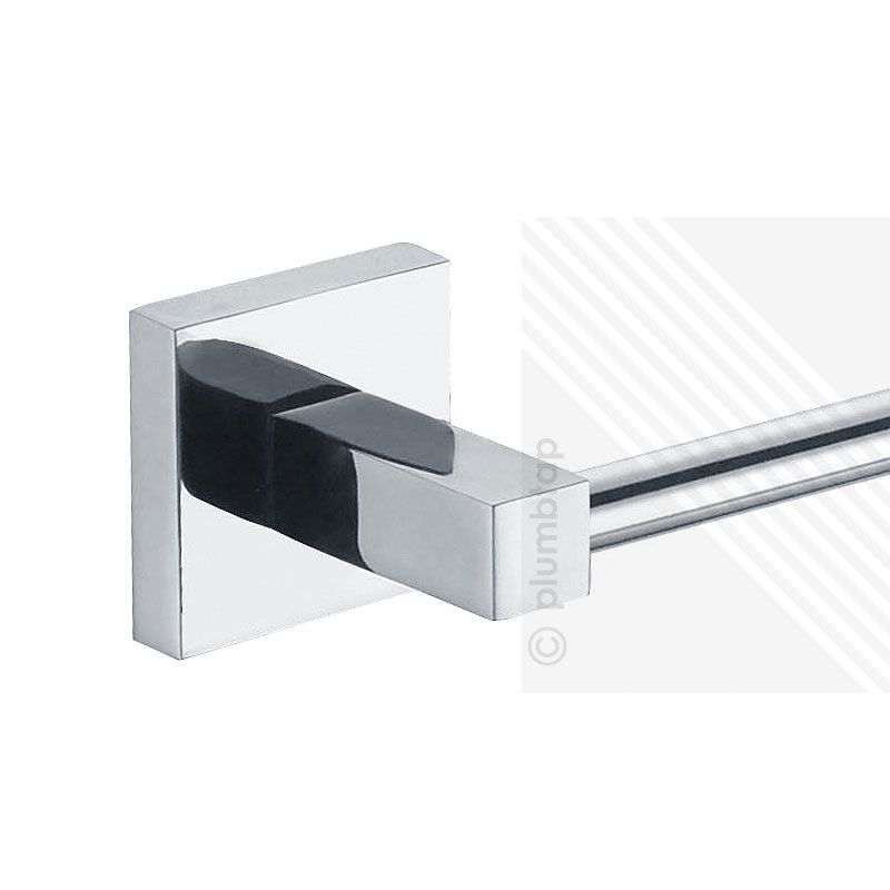Exceptionnel ECOSPA Modern Bathroom Toilet Roll Holder U0026 Single Towel Rail Accessory  Chrome
